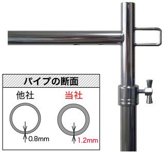 パイプ厚1.2mmを楕円形加工、パイプが違う